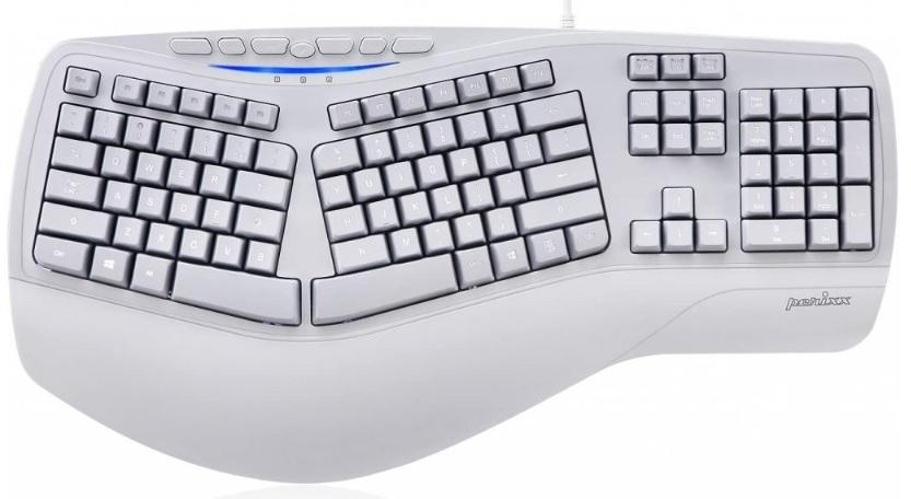 Levně ERGO-PRODUCT drátová klávesnice dělená Perixx PERIBOARD 312 US 2x USB Hub (11405)